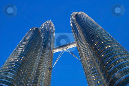 Kuala Lumpur twin towers stock photo, The Kuala Lumpur twin towers at night by Stefan Breton