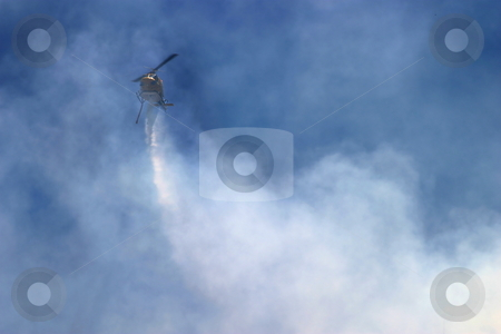 Barnett Fire stock photo, Brush fire in Ventura, California. The fire consumed 25 acres and was quickly controlled by more then 100 firefighters and water dropping helicopters. by Henrik Lehnerer