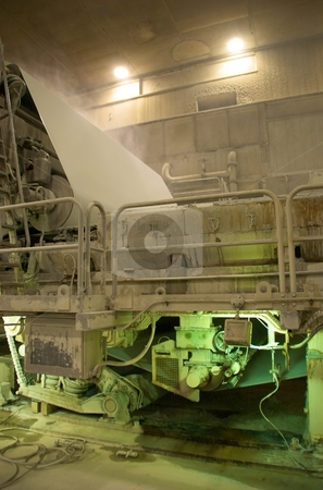 Industrial Paper Press stock photo, An industrial paper press. by Josh Lee