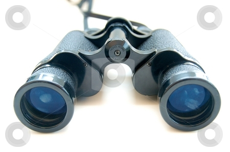 Binoculars stock photo, A pair of binoculers on a white background by Josh Lee