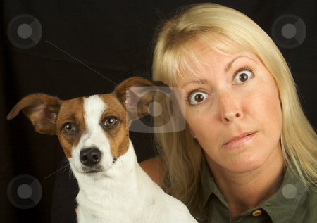 What a Pair stock photo, Attractive Woman & Her Jack Russell Terrier Dog by Andy Dean