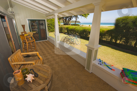 Oceanfront Lanai stock photo, Oceanfront Lanai and View by Andy Dean