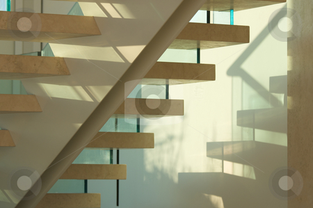 Majestic Marble Stairs and Glass stock photo, Majestic Marble Stairs and Glass Abstract by Andy Dean