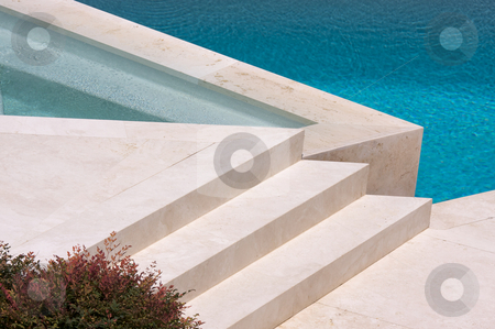 Custom Luxury Pool and Steps stock photo, Custom Luxury Pool and Steps Abstract by Andy Dean