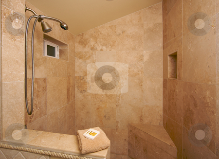 Exotic Marble Shower stock photo, Exotic Marble Shower by Andy Dean