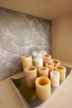 Candle Collection Abstract stock photo, Candle Collection Abstract with room for your own text. by Andy Dean