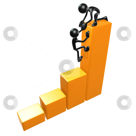 Bar Graph Help stock photo, A Concept And Presentation Figure in 3D by LuMaxArt