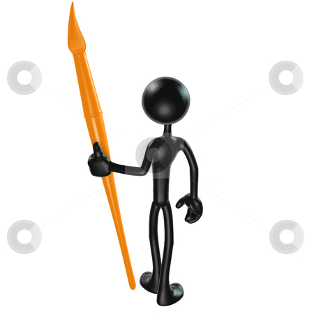 Paintbrush stock photo, A Concept And Presentation Figure in 3D by LuMaxArt