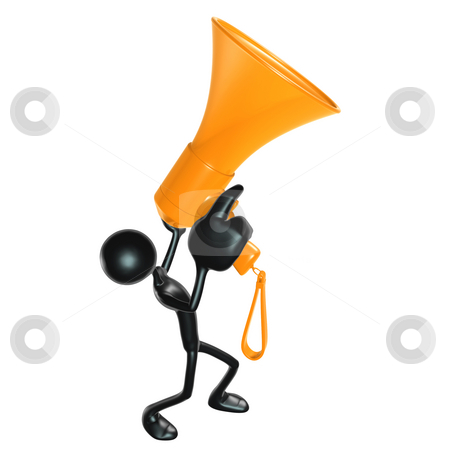 Megaphone stock photo, A Concept And Presentation Figure in 3D by LuMaxArt