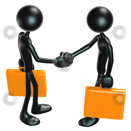 Handshake stock photo, A Concept And Presentation Figure in 3D by LuMaxArt