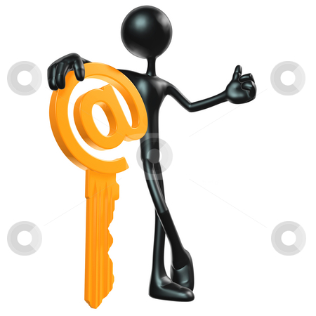 E-Mail Key stock photo, A Concept And Presentation Figure in 3D by LuMaxArt