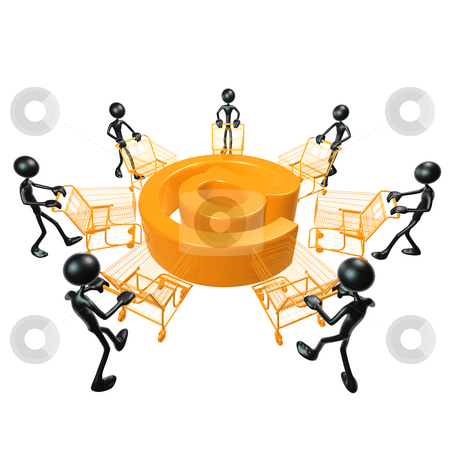 E-Commerce Shopping stock photo, A Concept And Presentation Figure in 3D by LuMaxArt