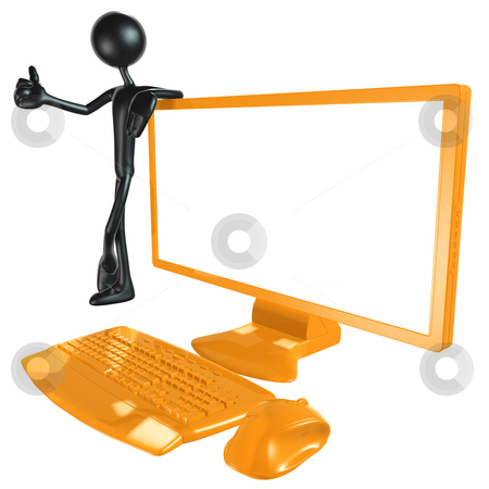 Monitor stock photo, A Concept And Presentation Figure in 3D by LuMaxArt