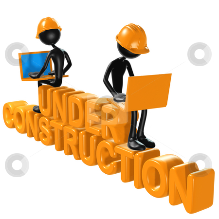 Under Construction stock photo, A Concept And Presentation Figure in 3D by LuMaxArt