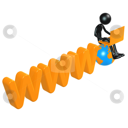 WWW stock photo, A Concept And Presentation Figure in 3D by LuMaxArt