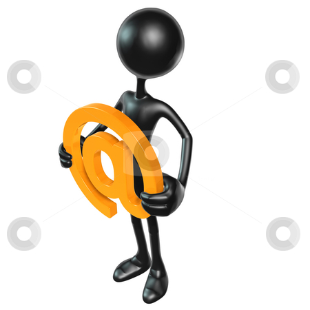 Email stock photo, A Concept And Presentation Figure in 3D by LuMaxArt