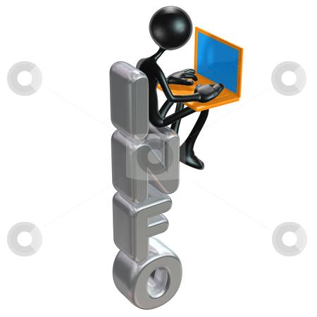 Info stock photo, A Concept And Presentation Figure in 3D by LuMaxArt