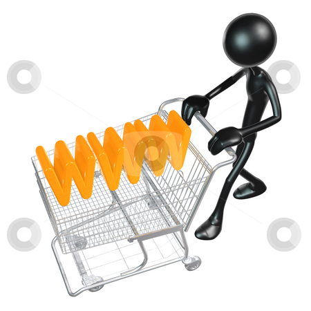 WWW Shopping stock photo, A Concept And Presentation Figure in 3D by LuMaxArt