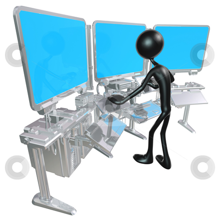 Control Center stock photo, A Concept And Presentation Figure in 3D by LuMaxArt