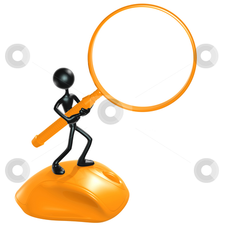 WWW Search Magnifier Frame stock photo, A Concept And Presentation Figure in 3D by LuMaxArt