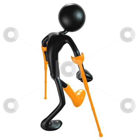 Crutches stock photo, A Concept And Presentation Figure in 3D by LuMaxArt