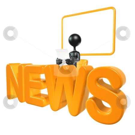 News Report stock photo, A Concept And Presentation Figure in 3D by LuMaxArt