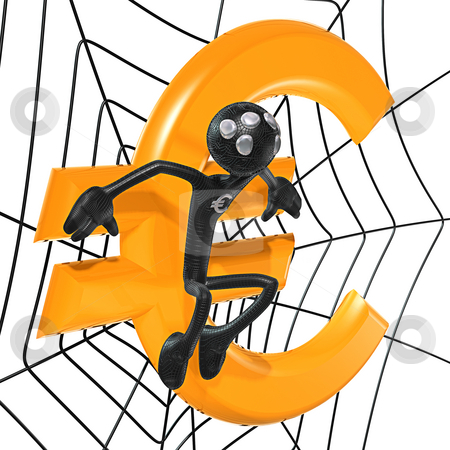 Spider Hero Euro stock photo, A Concept And Presentation Figure in 3D by LuMaxArt
