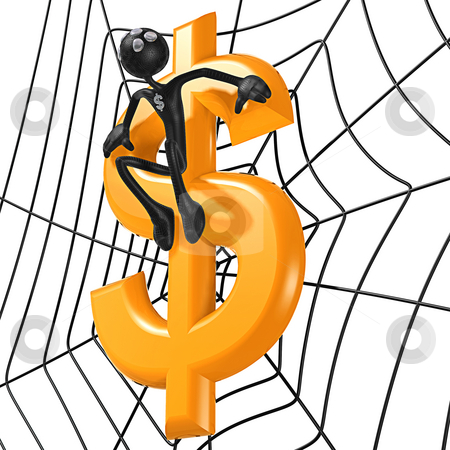 Spider Hero Dollar stock photo, A Concept And Presentation Figure in 3D by LuMaxArt