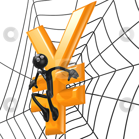 Spider Hero Yen stock photo, A Concept And Presentation Figure in 3D by LuMaxArt