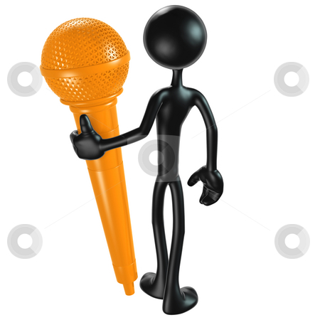 Microphone stock photo, A Concept And Presentation Figure in 3D by LuMaxArt