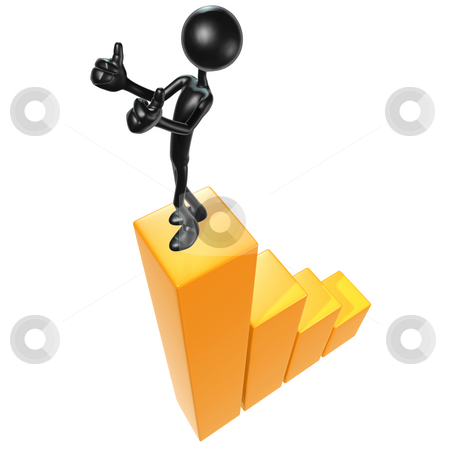 Success stock photo, A Concept And Presentation Figure in 3D by LuMaxArt
