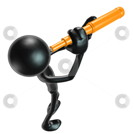 Telescope stock photo, A Concept And Presentation Figure in 3D by LuMaxArt