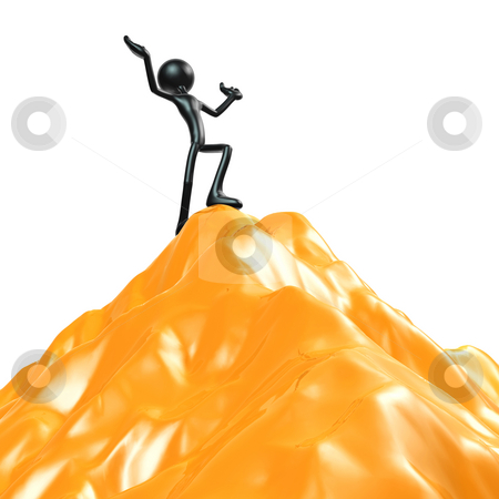 At The Peak stock photo, A Concept And Presentation Figure in 3D by LuMaxArt