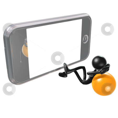 Mobile Device Movie Theater stock photo, A Concept And Presentation Figure in 3D by LuMaxArt