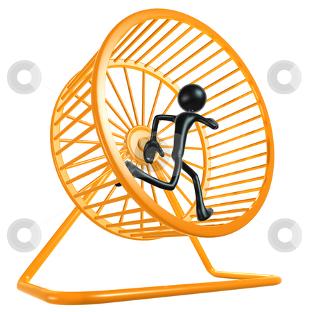 Hamster Wheel Runner stock photo, A Concept And Presentation Figure in 3D by LuMaxArt
