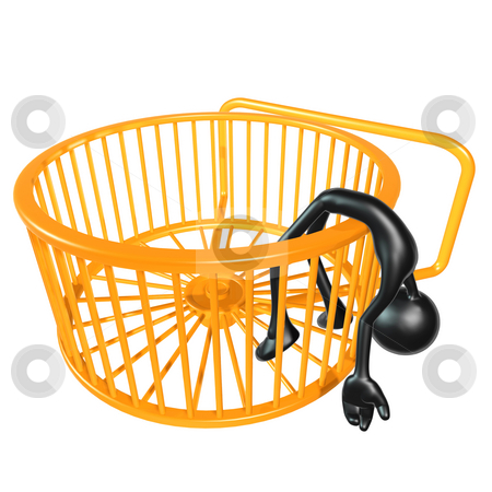 Collapsed Hamster Wheel Runner stock photo, A Concept And Presentation Figure in 3D by LuMaxArt