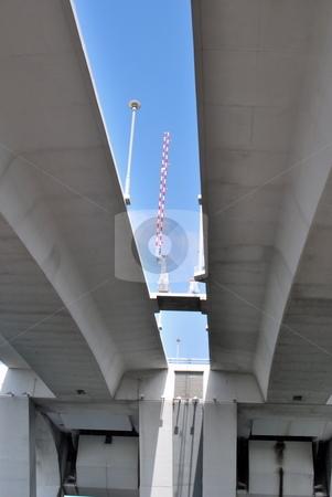 Under the Bridge stock photo, View from under a draw bridge by Robert Cabrera
