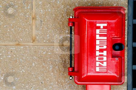 Emergency Phone stock photo, An emergency phone in a call box. by Robert Byron