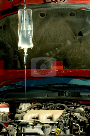 Sick Car stock photo, An IV bag hooked up to a sick car. by Robert Byron