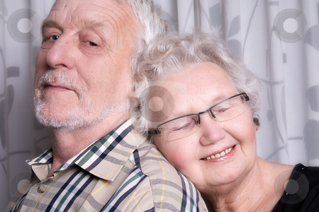 Loving elderly couple stock photo, Portrait of an elderly couple by Frenk and Danielle Kaufmann