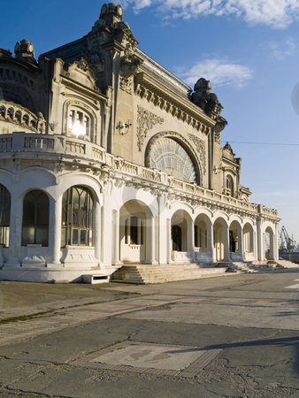 Casino constanta[2] stock photo, Constanta Casino seaside Black Sea terrace water by Adrian Costea