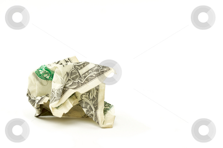 Crumpled Dollar stock photo, Crumpled Dollar on a White Background. by Andy Dean