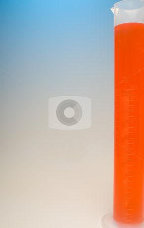 Graduated Cylinder stock photo, A graduated cylinder used for scientific measuring. by Robert Byron