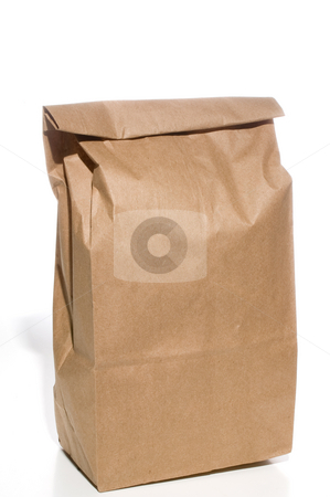 Bag Lunch stock photo, A brown bag lunch in a brown paper sack. by Robert Byron