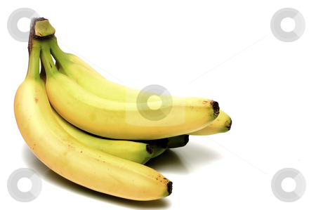 Bananas stock photo, A bunch of freshly picked yellow bananas. by Robert Byron
