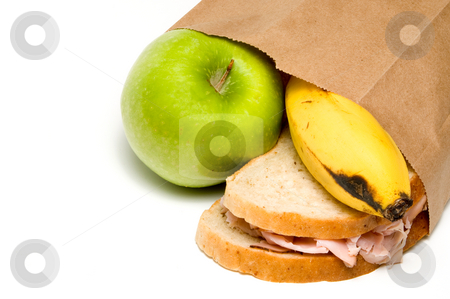 Lunch stock photo, A nutritious lunch in a brown bag. by Robert Byron