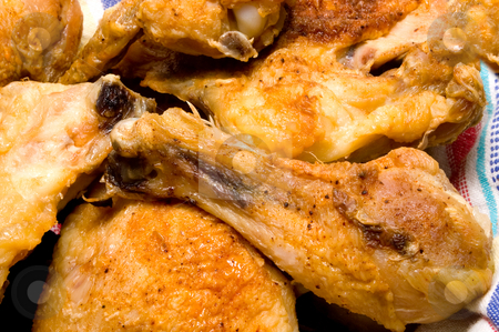 Southern Fried Chicken stock photo, A pile of delicious southern fried chicken. by Robert Byron