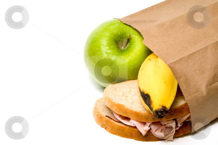 Brown Bag Lunch stock photo, A nutritious lunch in a brown bag. by Robert Byron