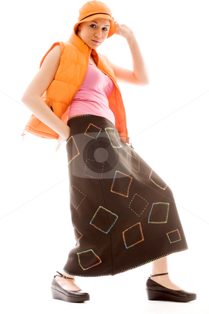 Girls new style stock photo, Young goodlooking woman posing in a new style by Frenk and Danielle Kaufmann