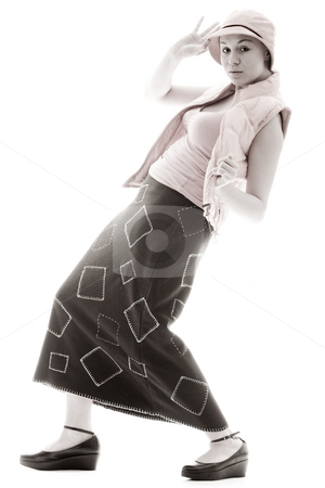 Girl in a new style stock photo, Young goodlooking woman posing in a new style by Frenk and Danielle Kaufmann